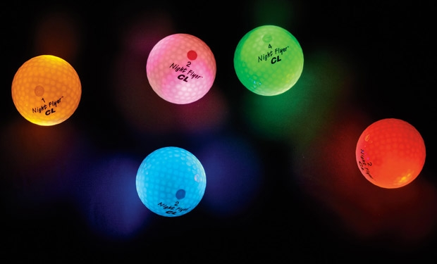 Night Flyer LED glow in the dark golf ball